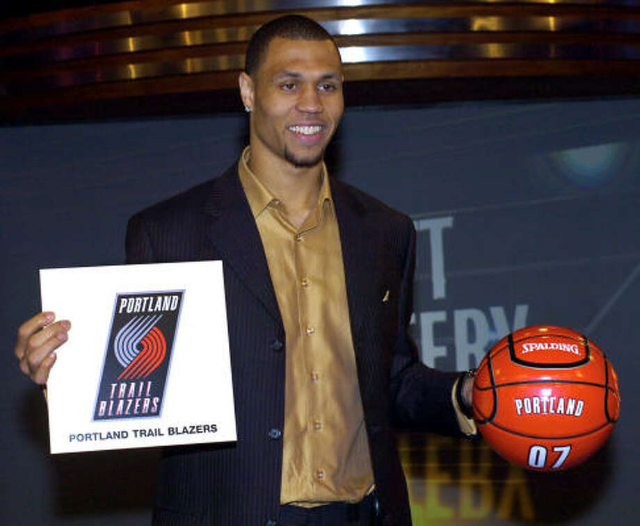 Brandon Roy brought luck to the Blazers as their representative at the lottery in Secaucus, N.J. Photo: Bill Kostroun, AP