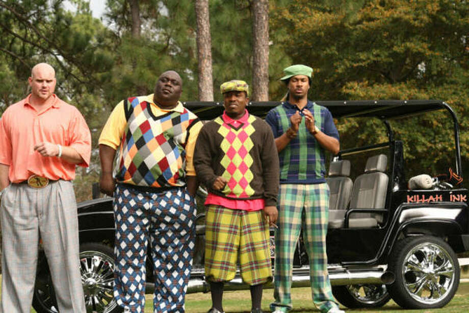 Chase Tatum (Kidd Clean), Faizon Love (Big Large), Big Boi (C-Note) and Finesse Mitchell (Dread) star in Don Michael Paul's  Who's Your Caddy? Photo: Fred Norris
