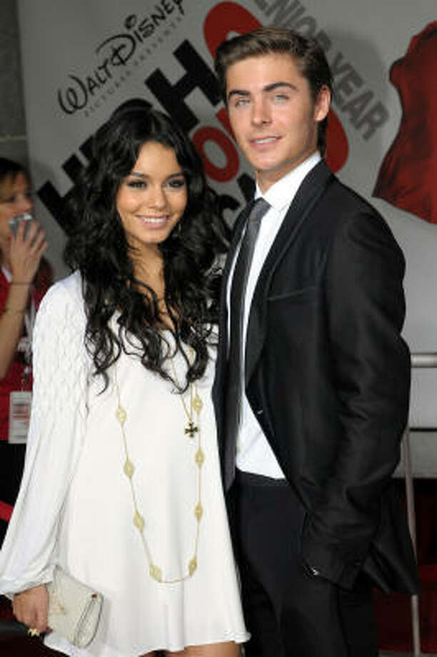 Vanessa Hudgens and Zac Efron arrive at the premiere of Disney's High School Musical 3: Senior Year held at the Galen Center on Oct. 16, 2008 in Los Angeles. Photo: Getty Images