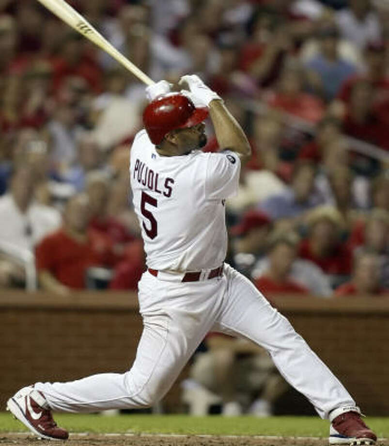 Albert Pujols homered for the fourth straight game in the Cardinals' 5-2 victory over the Marlins on Tuesday. Photo: Tom Gannam, AP