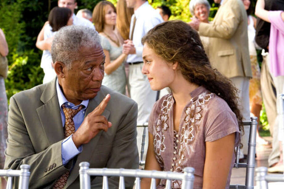 Morgan Freeman stars as Harry Stevenson and Alexa Davalos stars as Chloe in the romantic comedy Feast of Love. Photo: MGM
