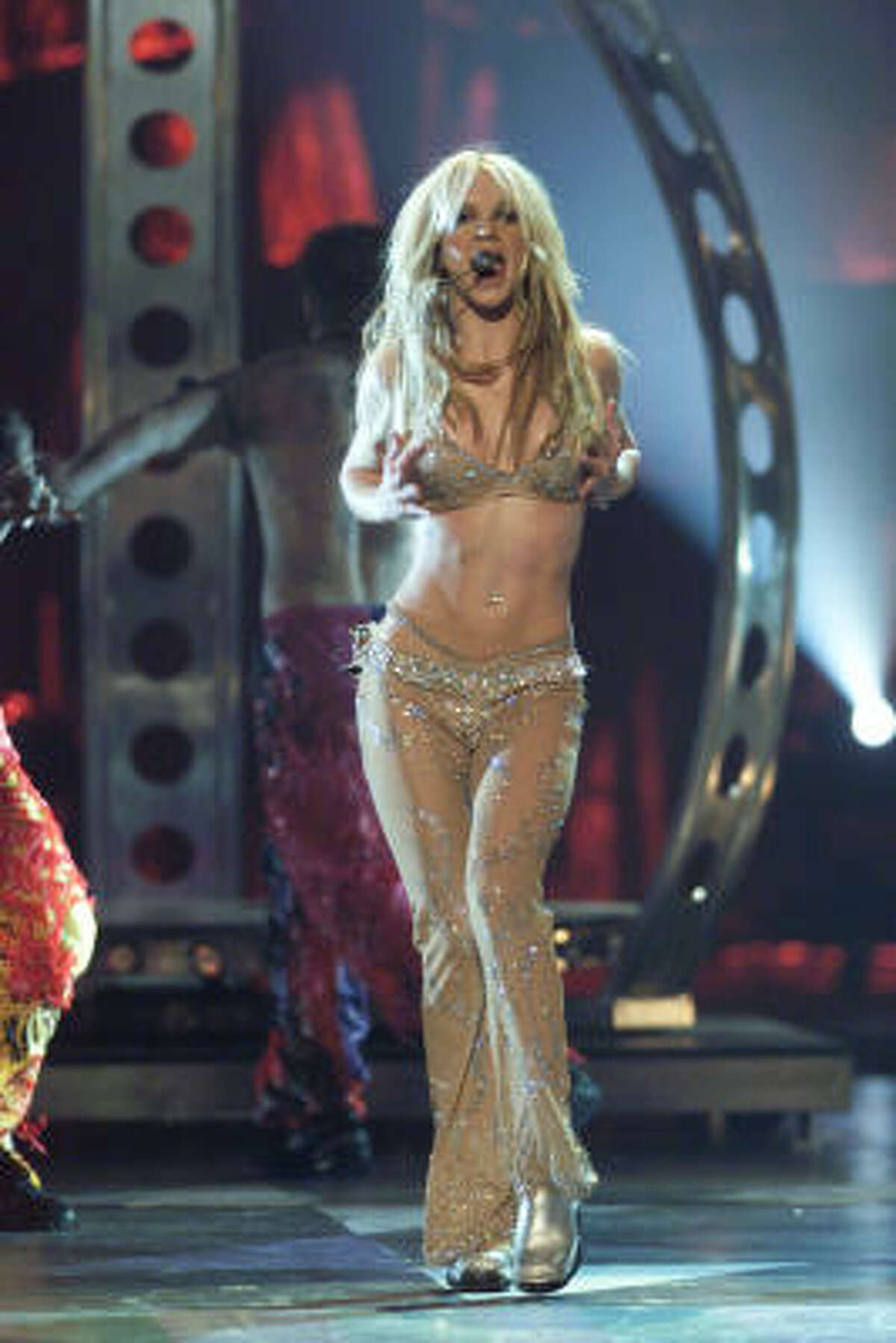 Mr. Blackwell named Spears the top fashion flop of 2000, calling called her two-piece outfits