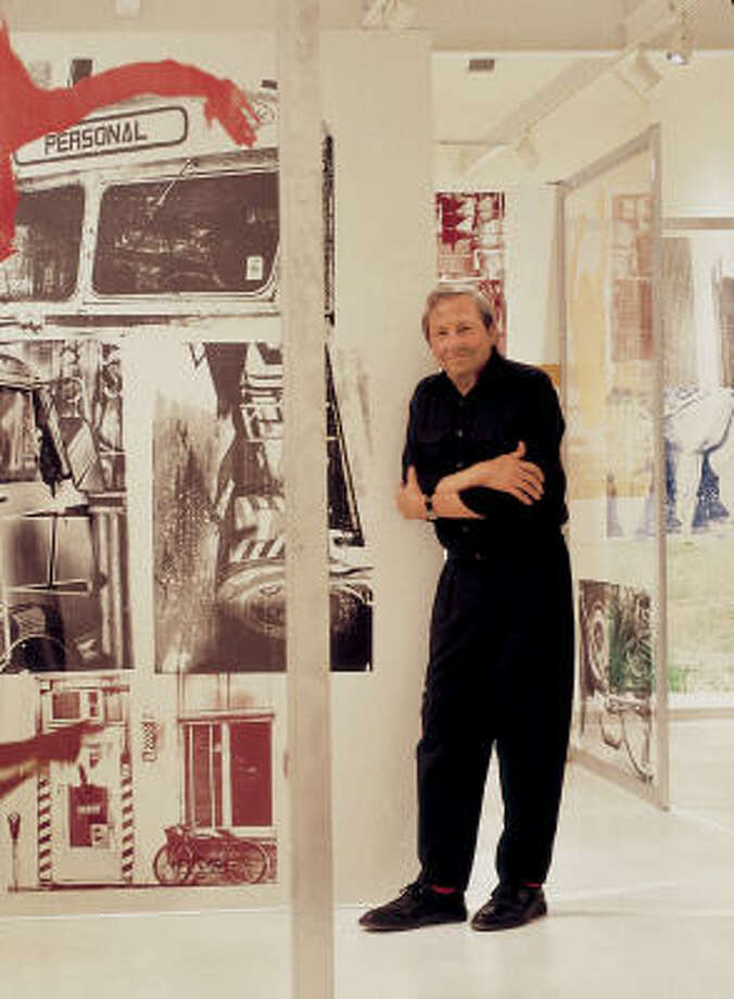 Robert Rauschenberg will discuss his famed exhibit Cardboards at The Menil Collection Saturday. Photo: ED CHAPPELL