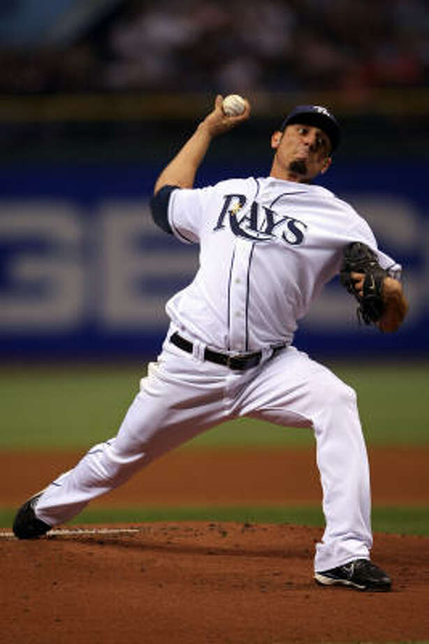 Oct. 19, 2008 Matt Garza started for the Rays in the deciding game of the ALCS. Photo: Elsa, Getty Images