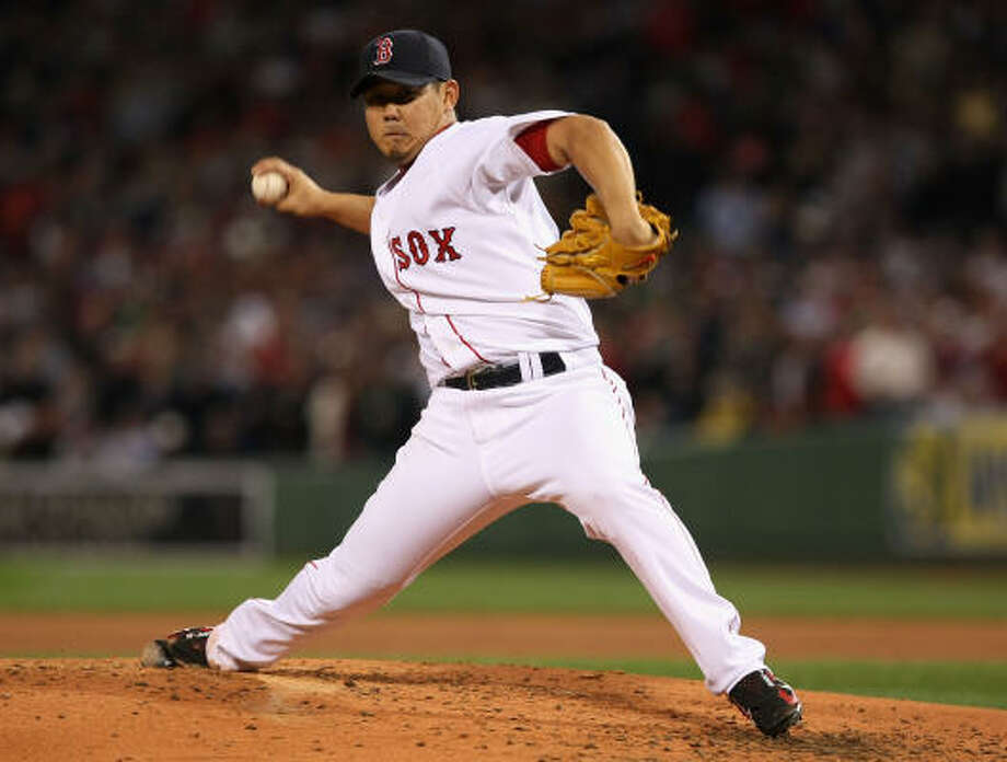 Daisuke Matsuzaka started for the Boston Red Sox as the Red Sox face elimination. Photo: Elsa, Getty Images