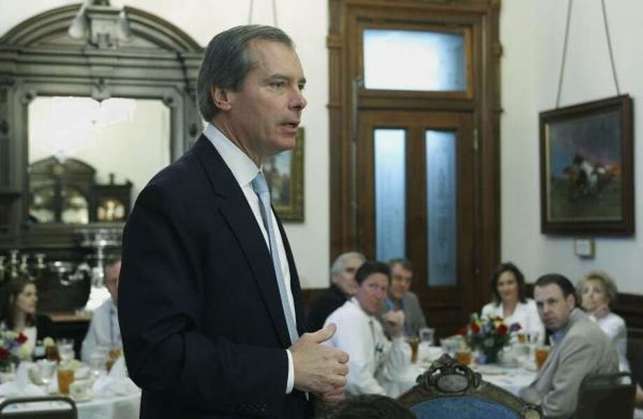 """Lt. Gov. David Dewhurst, shown hosting a luncheon in Austin in May, """"wants ... to be as strong and effective as possible,"""" a spokesman said. Photo: Harry Cabluck, Associated Press"""
