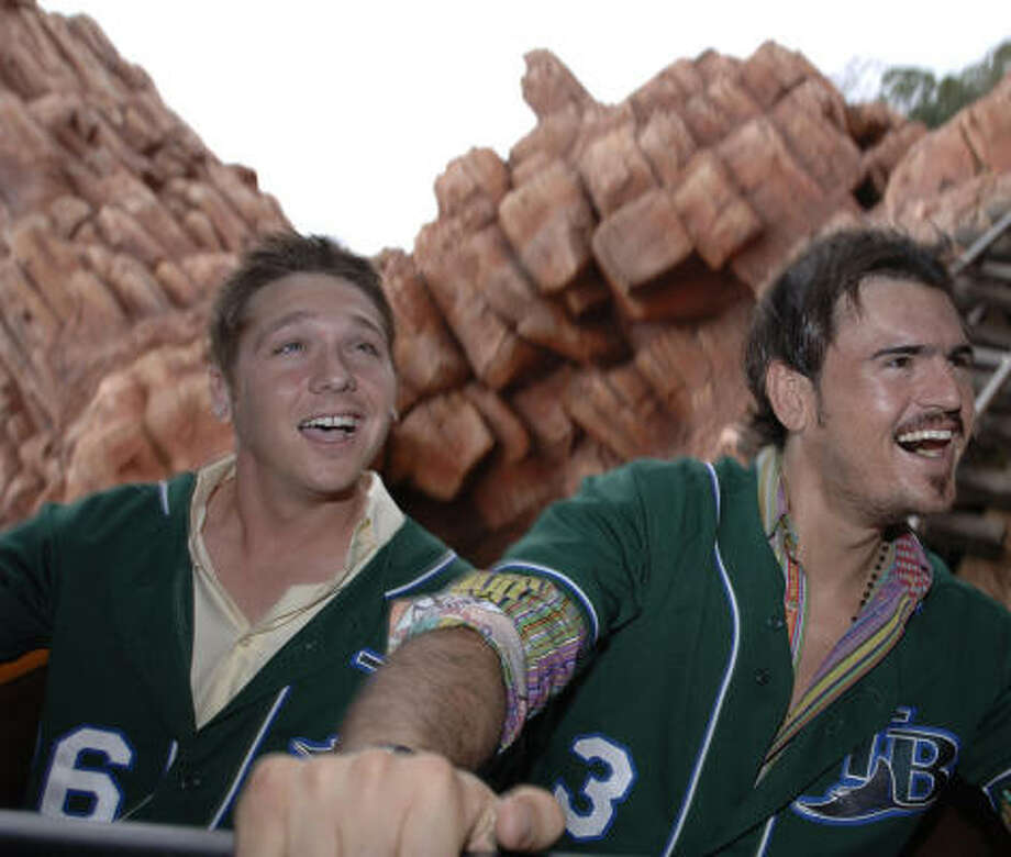 Scott Kazmir, Jorge Cantu and the Devil Rays would love to have had a roller-coaster ride in the standings. As it is, there have been a lot of valleys and no peaks. Photo: Walt Disney World