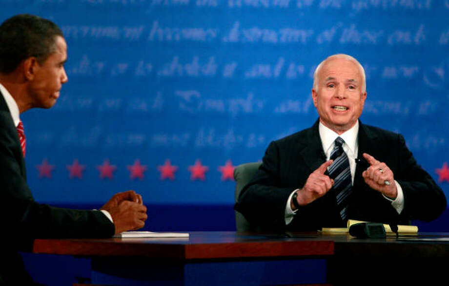 Barack Obama and John McCain face off. Photo: Mario Tama, Getty Images