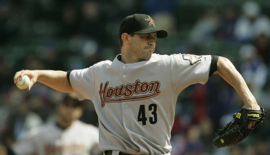 Astros pitcher Chris Sampson throws against the Cubs in Chicago. Photo: M. Spencer Green, AP