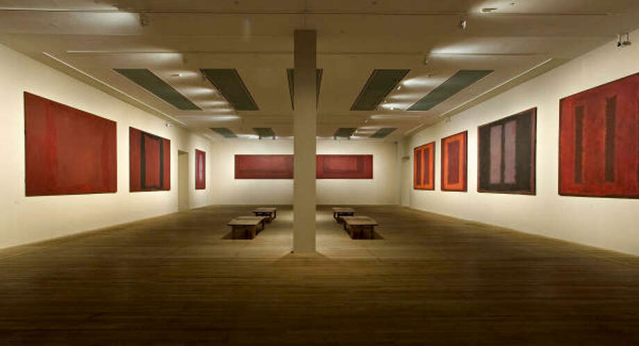The Tate Modern showed 14 of Mark Rothko's mysterious Seagram murals are on display together. Photo: Sam Drake, AP