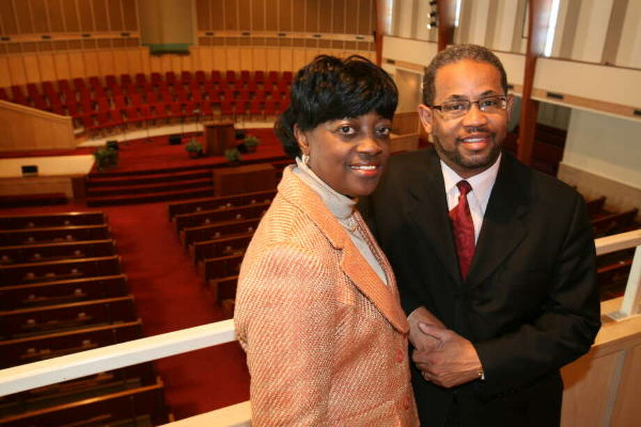 Berthinia Burgs and her husband, the Rev. Donald G. Burgs Jr., will celebrate the opening of a second site for Alief Baptist Church at 906 Avenue A in Katy. Photo: Suzanne Rehak, For The Chronicle