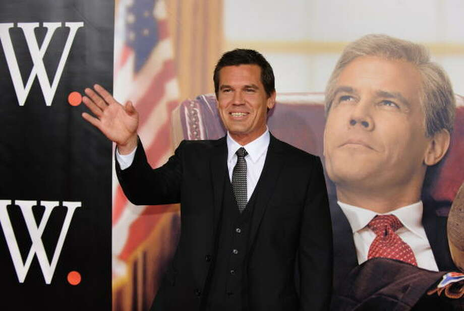 Actor Josh Brolin plays George W. Bush in Oliver Stone's new movie about the 43rd president.  Brolin grabbed some headlines while filming the movie when he got involved a scuffle at Shreveport's Stray Cat. Photo: DON EMMERT, AFP/Getty Images