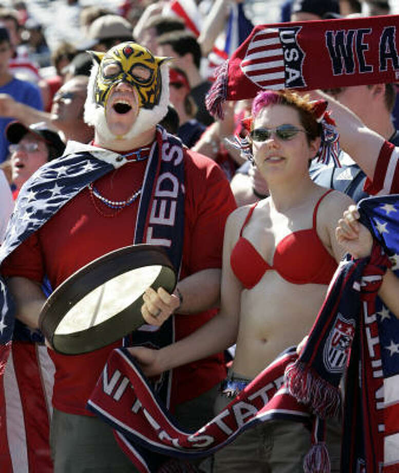 U.S. fans saw the team go to 8-0-1 with Bob Bradley as coach. Photo: STAN HONDA, AFP/Getty Images