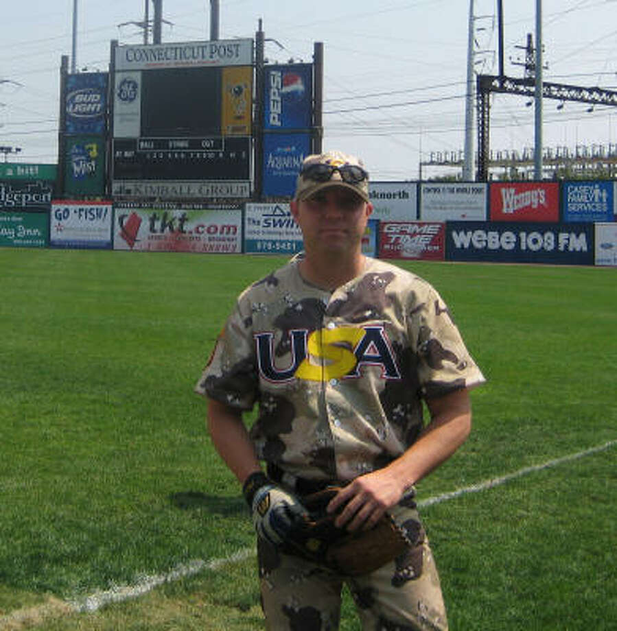 Somerville native Brent Booze got a chance to play a little baseball in the military. Photo: Special To The Chronicle