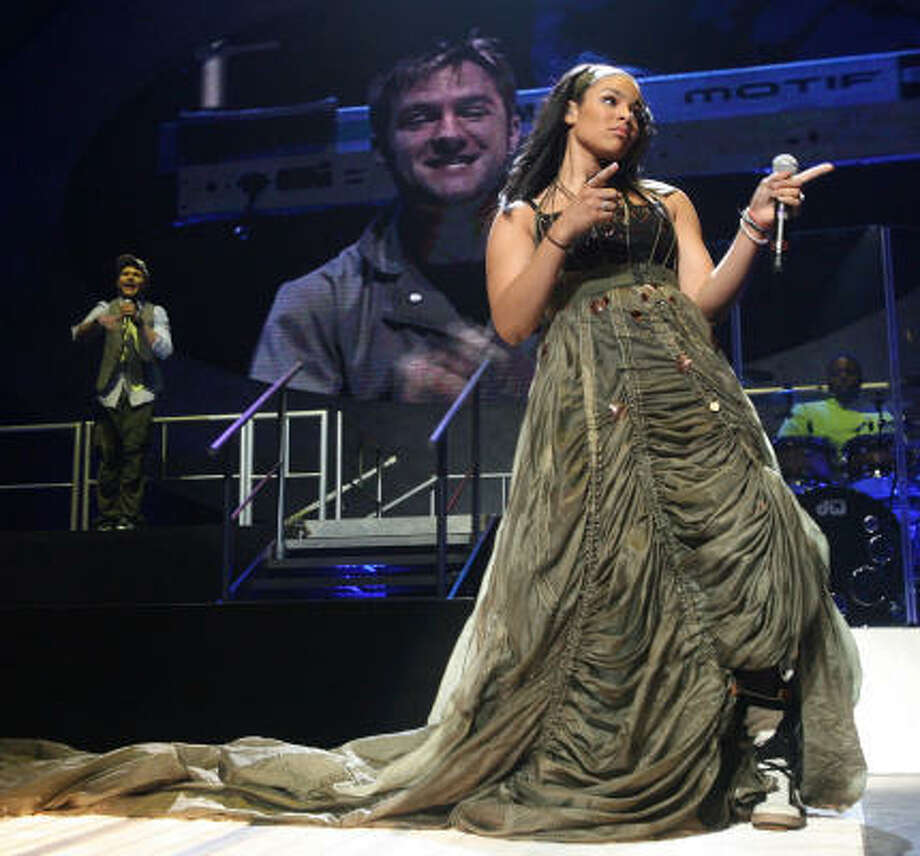 Jordin Sparks performed at Toyota Center last month. Photo: Bill Olive, For The Chronicle