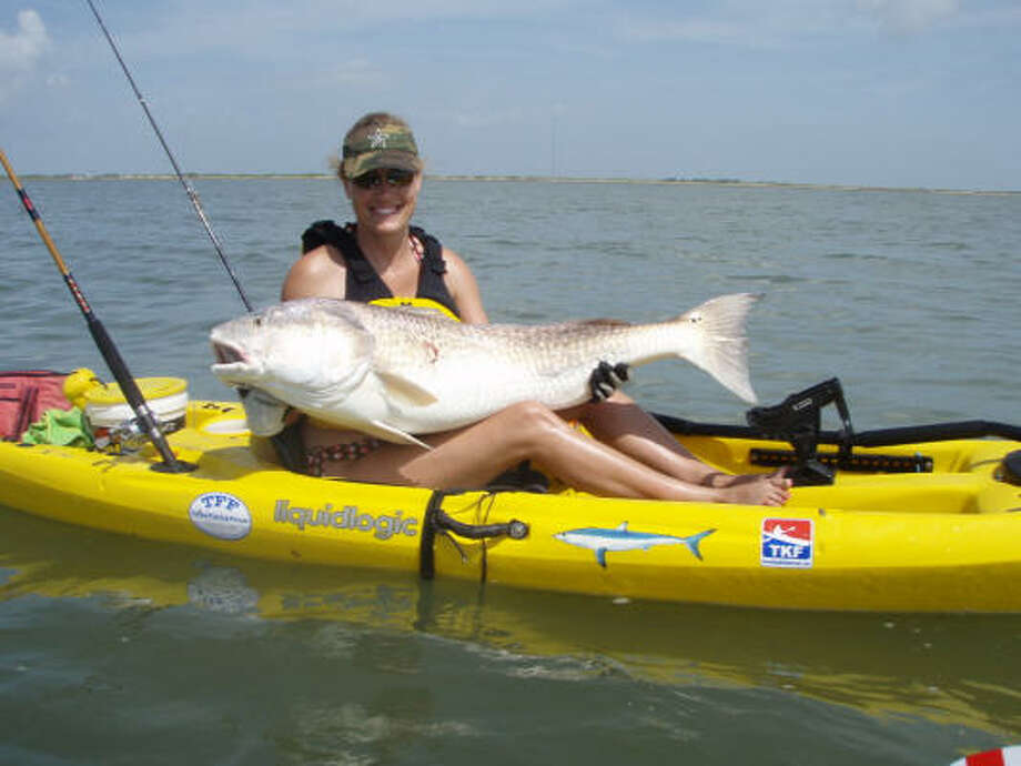 Angles are landing big fish from kayaks such as this one caught by Brooke Howard. Photo: Courtesy Of Ty Howard