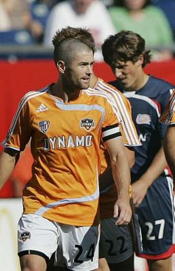 Dynamo captain Wade Barrett is questionable for Saturday's match with an ankle injury. Photo: Michael Dwyer, AP