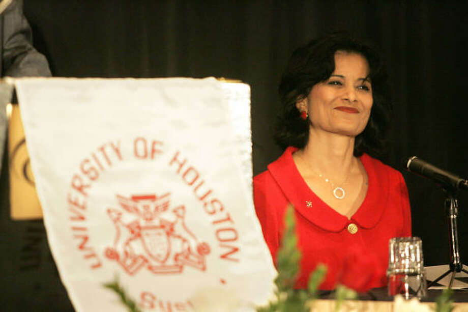 Newly appointed University of Houston chancellor and president, Dr. Renu Khator at her confirmation at the Hilton University of Houston Monday, Nov. 5, 2007, in Houston. Photo: Johnny Hanson, For The Chronicle