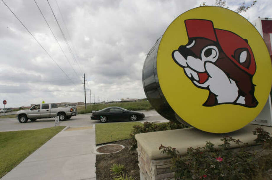 Who can resist this mascot, as shown at a Buc-ee's on U.S. 290 in Waller? Photo: Julio Cortez, Chronicle