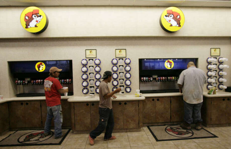 The soft-drink selection: For caffeine lovers who don't do coffee, Buc-ee's soft drink selection is equally impressive.  Photo: Julio Cortez, Chronicle