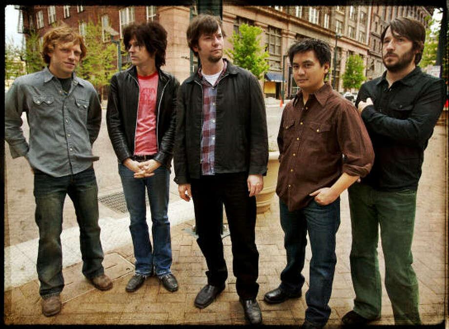 Son Volt is, from left, Andrew Duplantis, Brad Rice, Jay Farrar, Derry deBorja and Dave Bryson. Photo: Mark Ray