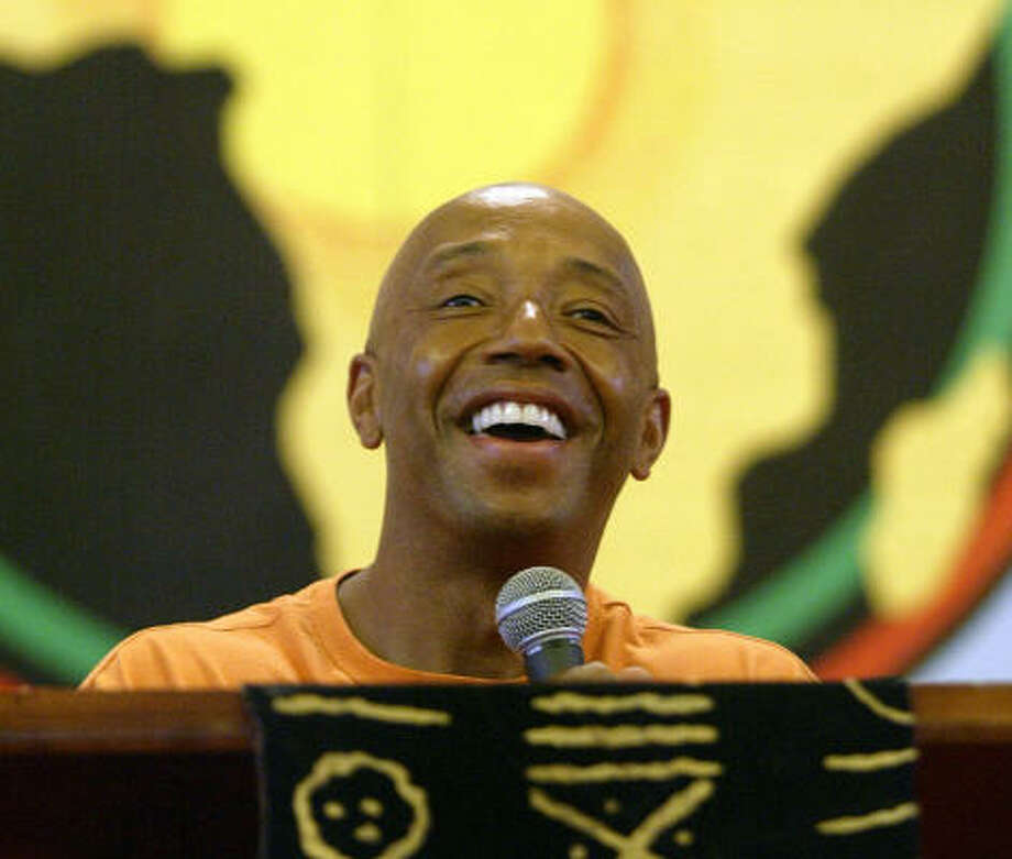 Russell Simmons, founder of Def Jam Records, got an idol's reception at Houston's Shrine of the Black Madonna, where he spoke to a crowd about his new book, Do You!: 12 Laws to Access the Power in You to Achieve Happiness and Success. Photo: Jessica Kourkounis, For The Chronicle