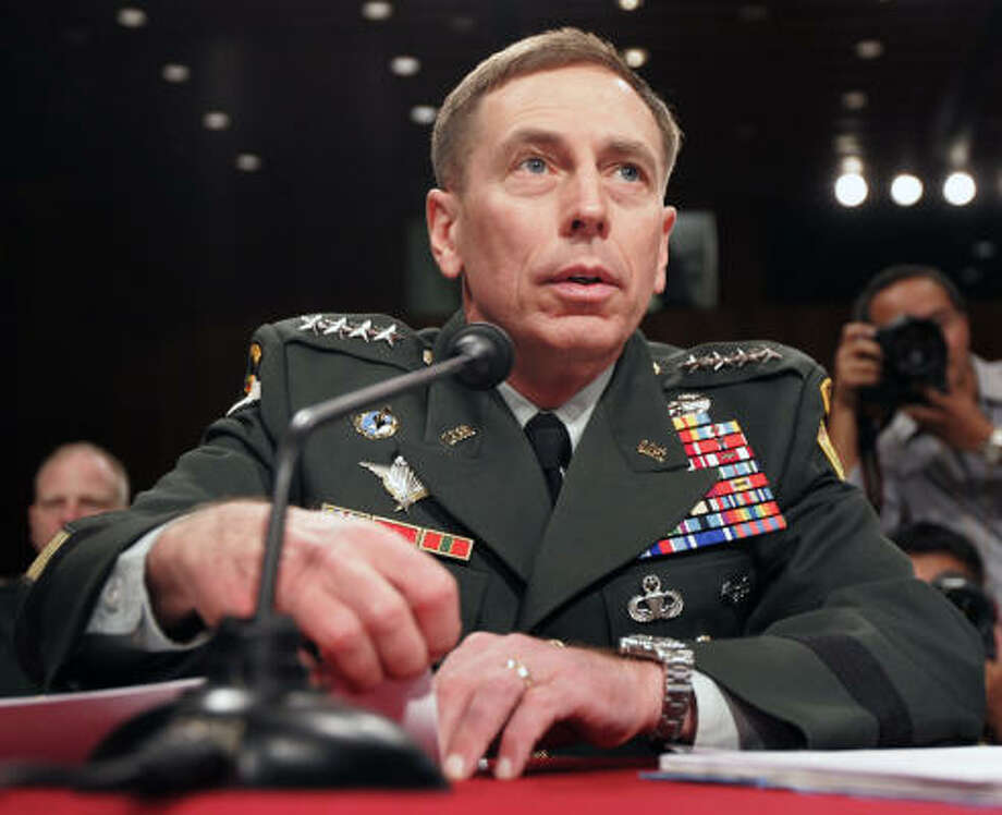 Gen. David Petraeus testifies on the future course of the war in Iraq before the Senate Foreign Relations Committee on Capitol Hill in Washington. Photo: Susan Walsh, AP