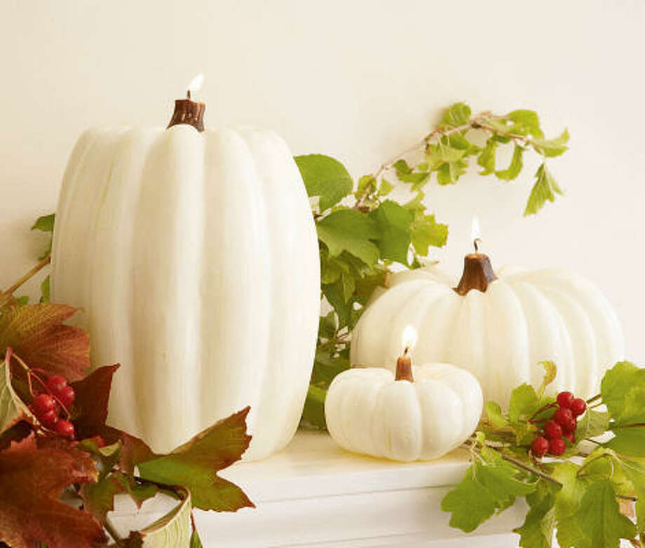 These creamy white pumpkin candles are a sophisticated, grown-up way to kick off Halloween and the rest of the holiday season. $19-$44 at Pottery Barn. Photo: Pottery Barn