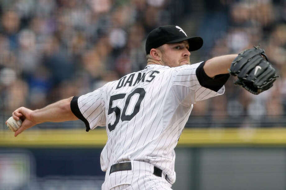 Oct. 5, 2005:John Danks starts Game 3 for Chicago as the White Sox face elimination at home. Photo: Pool, Getty Images