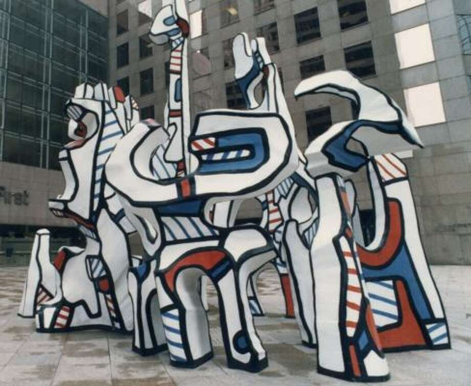 Monument au fantôme by Jean Dubuffet has seven parts. Photo: CHRONICLE FILE