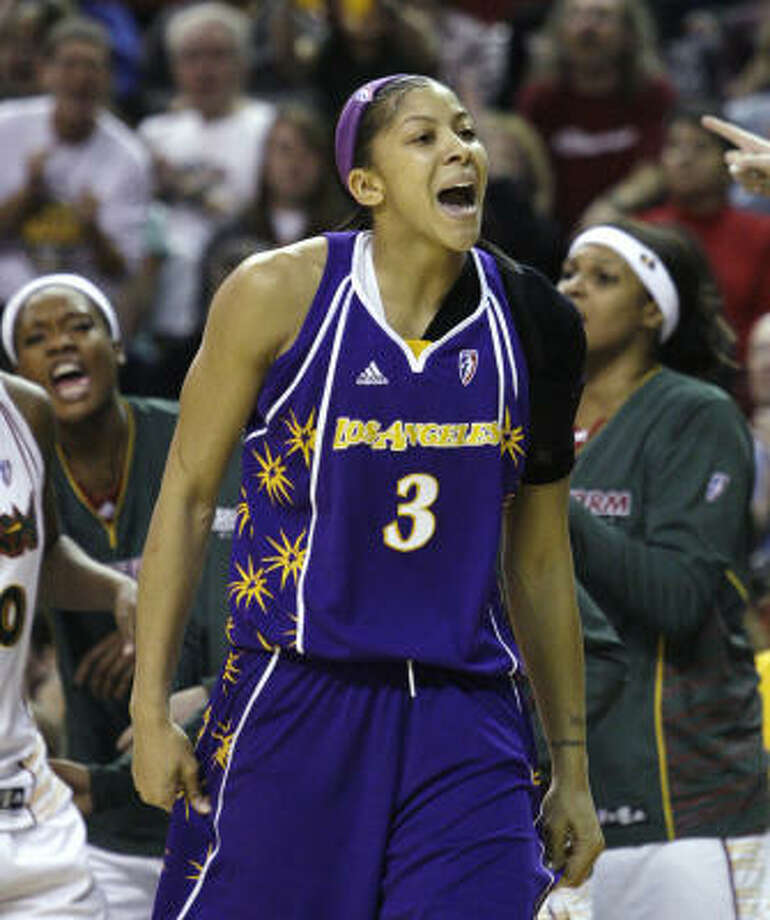1. Candace Parker, Los Angeles, No. 3.Parker averaged 18.5 points, 9.5 rebounds and 3.4 assists per game en route to leading the Sparks to the Western Conference finals. Photo: Elaine Thompson, AP