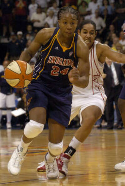 Tamika Catchings stars for the  Indiana Fever in the WNBA. Other celebs in the game:Sean El