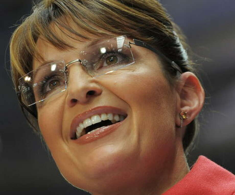 Republican vice-presidential nominee Sarah Palin will forever be linked to her rimless glasses. Photo: MANDEL NGAN, AFP/Getty Images