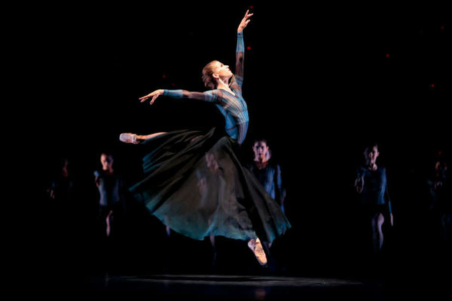 Kelly Myernick danced with sharp attitude in Mediaeval Baebes, a new work by Stanton Welch. Photo: Amitava Sarkar, Houston Ballet