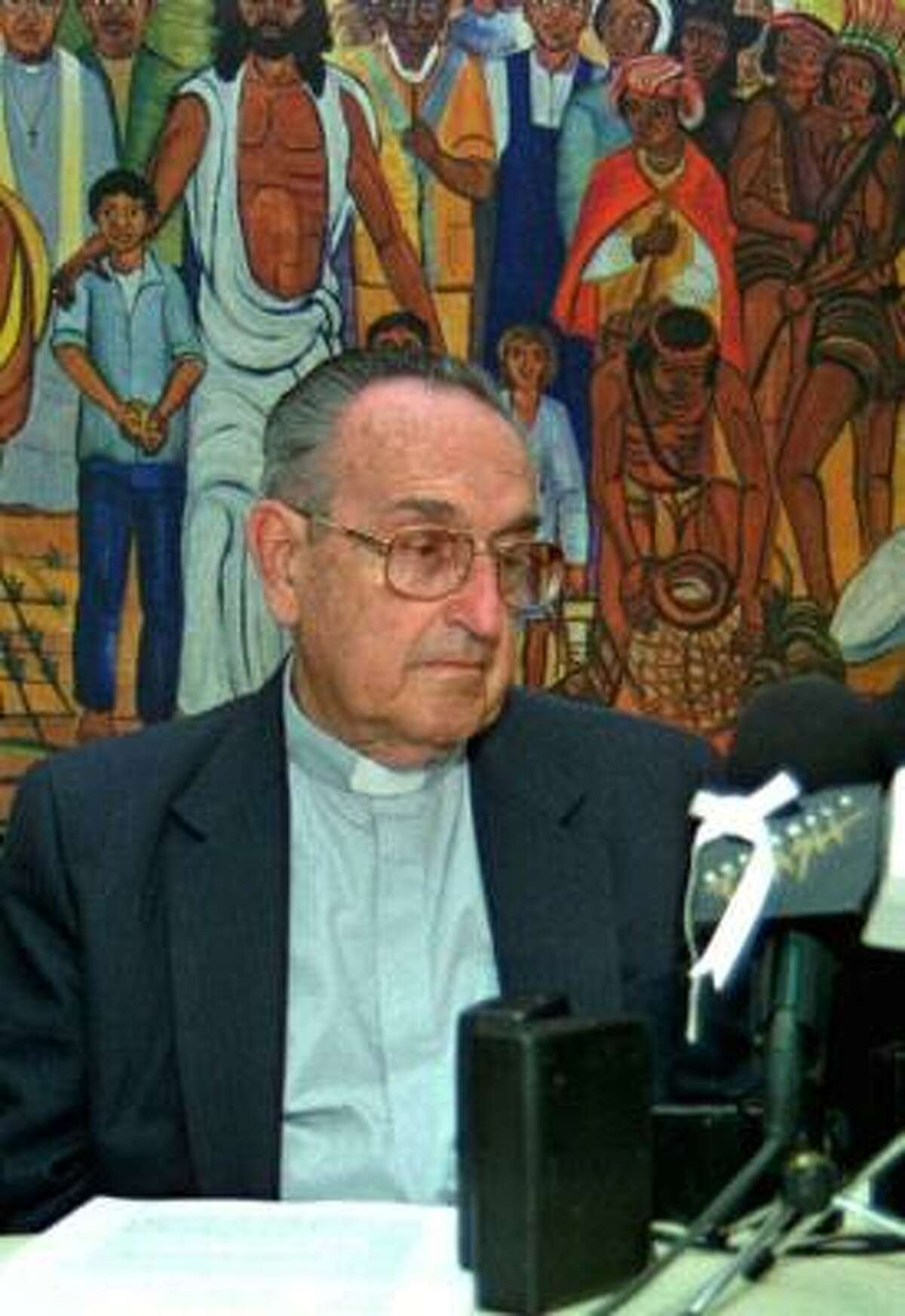 Roman Catholic Bishop Juan Gerardi Conedera, 75, appeared April 23, 1998, in a press conference. The bishop was killed three days later, after publishing a scathing report on human-rights abuses in Guatemala.