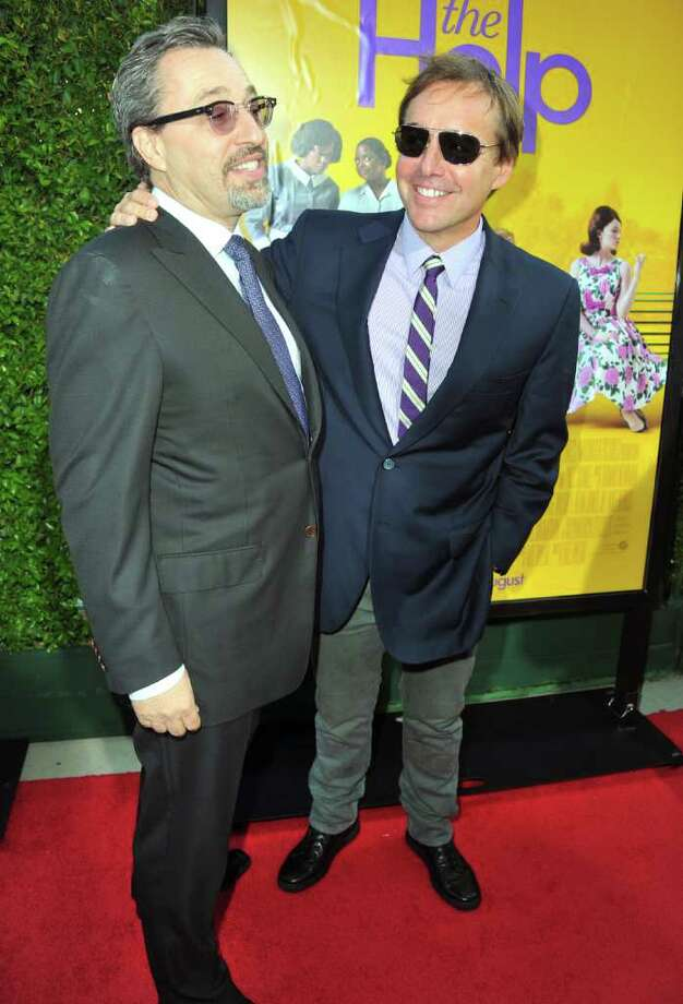 "Producers Michael Barnathan (L) and Chris Columbus attend the premiere Of DreamWorks Pictures' ""The Help"" held at The Academy of MotiPicture Arts and Sciences, Samuel Goldwyn Theater in Beverly Hills, California. Photo: Alberto E. Rodriguez, Getty Images / 2011 Getty Images"