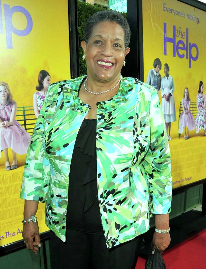 "Activist Myrlie Evers-Williams attends the premiere of DreamWorks Pictures' ""The Help"" held at The Academy of MotiPicture Arts and Sciences, Samuel Goldwyn Theater in Beverly Hills, California. Photo: Alberto E. Rodriguez, Getty Images / 2011 Getty Images"