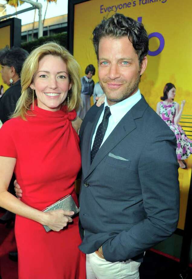 "Writer Kathryn Stockett (L) and designer and Tv Host Nate Berkus attend the premiere of DreamWorks Pictures' ""The Help"" held at The Academy of MotiPicture Arts and Sciences, Samuel Goldwyn Theater in Beverly Hills, California. Photo: Alberto E. Rodriguez, Getty Images / 2011 Getty Images"