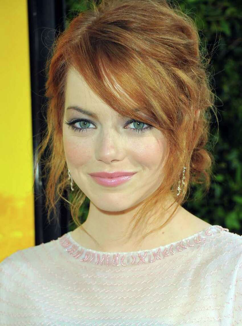 Actress Emma Stone attends the premiere of DreamWorks Pictures