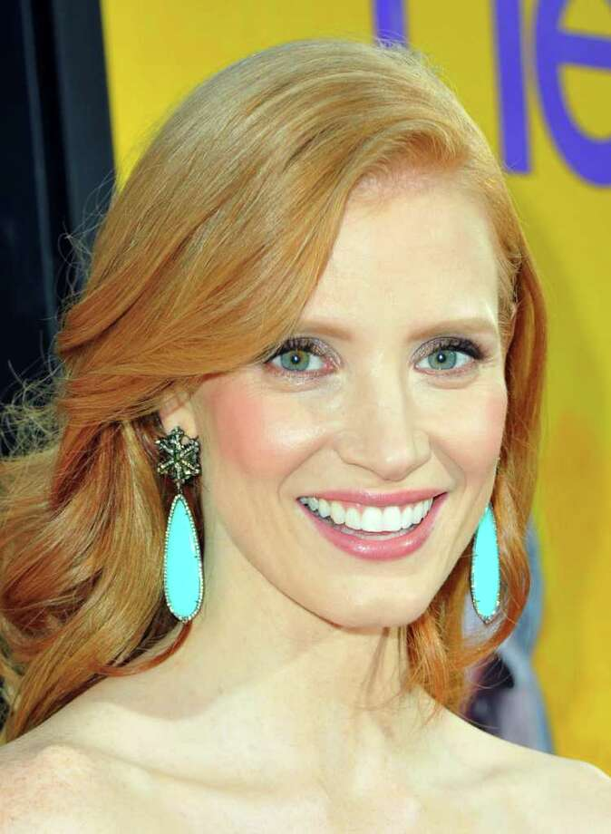 "Actress Jessica Chastain attends the premiere of DreamWorks Pictures' ""The Help"" held at The Academy of MotiPicture Arts and Sciences, Samuel Goldwyn Theater in Beverly Hills, California. Photo: Alberto E. Rodriguez, Getty Images / 2011 Getty Images"