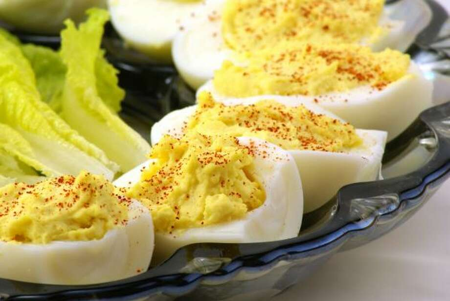 Deviled eggs are great for a brunch, picnic or other informal gathering. Photo: Kathy Burns, ©  Fotolia.com