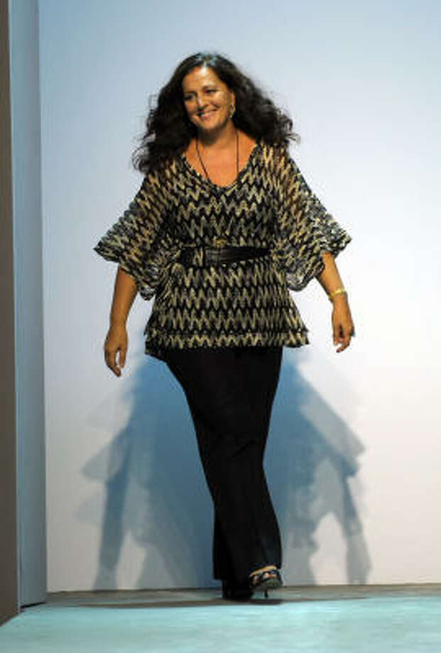 Angela Missoni, fashion designer for Italian house Missoni, at the Spring/Summer 2009 ready-to-wear collections of the fashion week in Milan. Photo: GIUSEPPE CACACE, AFP/Getty Images