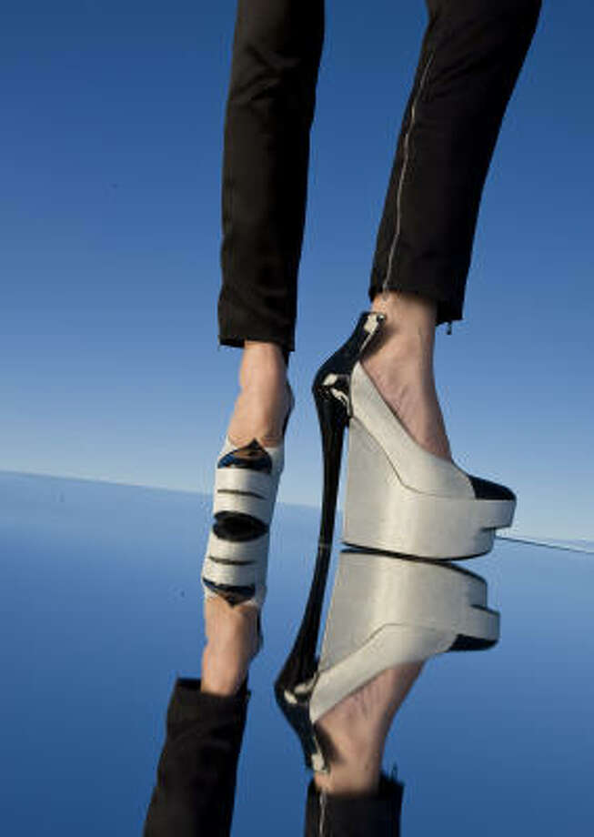 Shoes take flight with this Louis Vuitton platform from the fall runway collection. Photo: Robert Seale