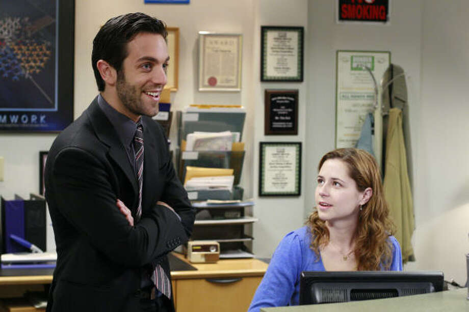 B.J. Novak, left, stars as Ryan Howard on The Office. Photo: Ron Tom, Nbc