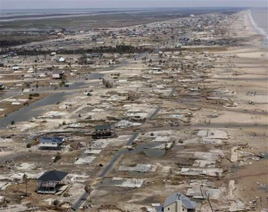 Destroyed homes are strewn through Crystal Beach in the aftermath of Hurricane Ike. Photo: Earl Nottingham, Texas Parks & Wildlife