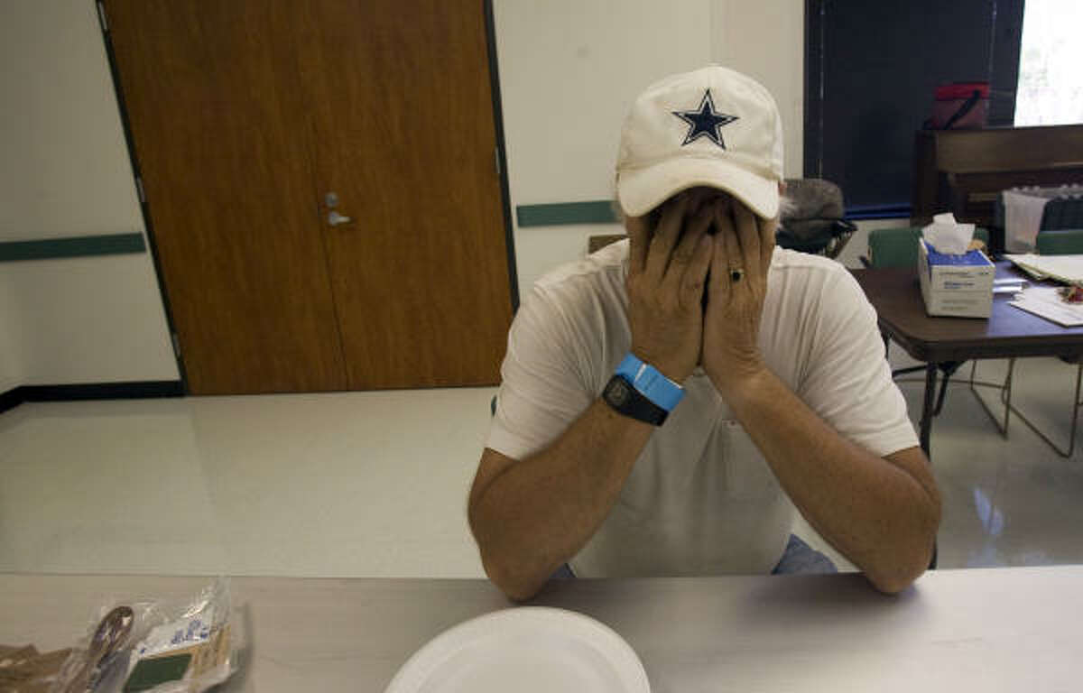 It's been a rough few days for Corpus Christi resident Phillip Rigan, who was stranded in Houston after the storm. He was able to charge his cell phone and get a meal at the Hurricane Ike Recovery Assistance Comfort Station at the Third Ward Multi-Service Center Monday.