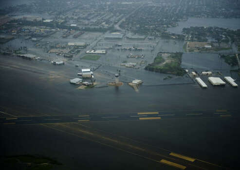 Floodwaters cover Scholes Field after the passing of Hurricane Ike in Houston. Photo: Smiley N. Pool, Chronicle