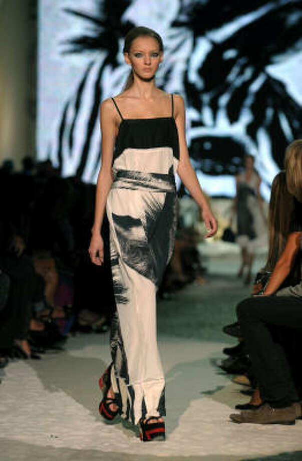 A model presents a creation by Italian designer Just Cavalli during the Spring/Summer 2009 collections of the ready-to-wear fashion week in Milan. Photo: GIUSEPPE CACACE, AFP/Getty Images