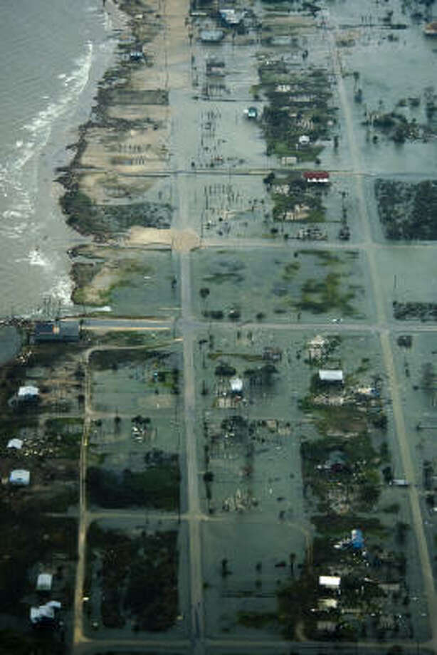 Damage after the passing of Hurricane Ike is seen Saturday, Sept. 13, 2008, in Port Bolivar, Texas. Photo: Smiley N. Pool, Chronicle