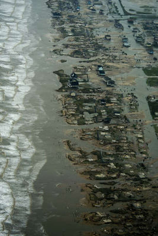 Damage after the passing of Hurricane Ike is seen Saturday, Sept. 13, 2008, in Crystal Beach, Texas. Photo: Smiley N. Pool, Chronicle